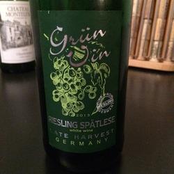 Grun Vin Riesling Spätlese Late Harvest   Wine