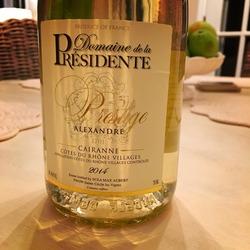Domaine de la Présidente Prestige Alexandre  Wine