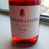 Domaine Lafond Roc-Epine Tavel 2011, France