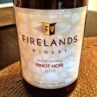 Firelands Isle St. George Pinot Noir 2010, United States