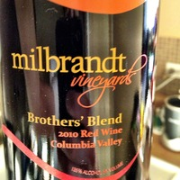 Milbrandt Vineyards Brother's Blend 2010, United States