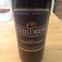 Childress Vineyards Cabernet Franc 2009, United States