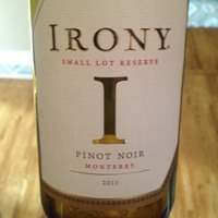 Irony 'Small Lot Reserve' Pinot Noir 2011,