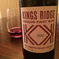 King's Ridge Pinot Noir 2012,