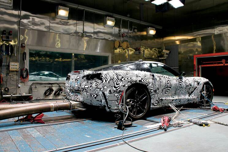 Many thousands of testing miles were completed in GM simulators, where C7s were subjected to extreme temperatures, high altitude and drenching rain.