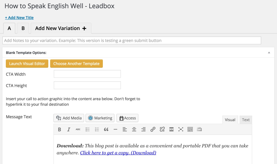 inbound now plugin review editor