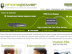 photo of the website for Phone Power Digital Phone Service