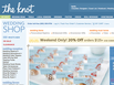 photo of the website for The Knot Wedding Shop