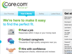 photo of the website for Care.com