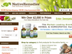 photo of the website for Native Remedies