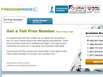 photo of the website for FreedomVoice