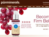 photo of the website for Astral Brands - Pür Minerals