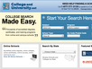 photo of the website for College and University