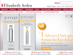 photo of the website for Elizabeth Arden