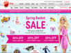 photo of the website for Mattel Shop