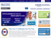 photo of the website for Kaplan SelfTest