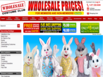 photo of the website for Wholesale Costume Club