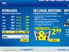 photo of the website for 1&1 Internet Web Hosting and Domain Name Sales