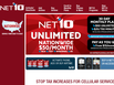 photo of the website for Net 10 Wireless