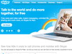 photo of the website for Skype