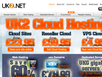 photo of the website for UK2NET web hosting