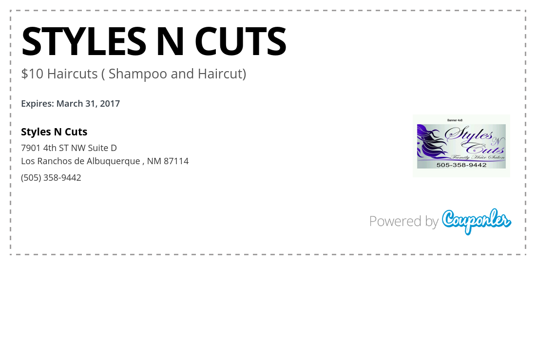 Styles N Cuts Coupon Styles N Cuts Couponler