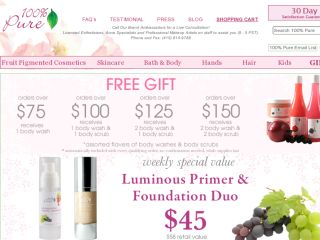Shop at 100percentpure.com