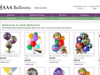 Shop at aaaballoons.com