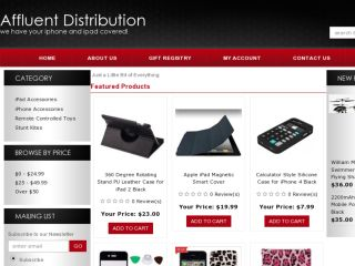 Shop at affluentdistribution.com