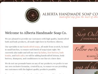 Shop at albertasoapcompany.com