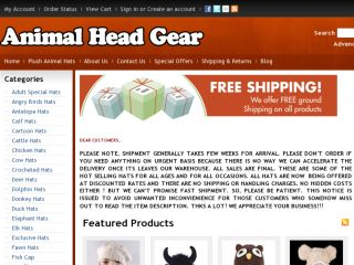 Shop at animalheadgear.com