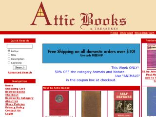 Shop at atticbooksandtreasures.com