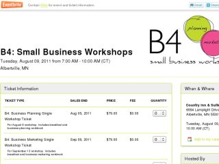 Shop at b4planningworkshop-estwhdr.eventbrite.com