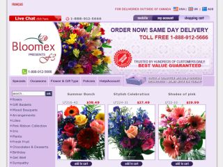 Shop at bloomex.ca