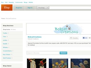 Shop at bobcatcreations.etsy.com