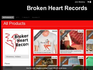 Shop at brokenheartrecords.storenvy.com