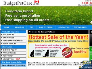 Shop at budgetpetcare.com