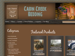 Shop at cabincreekbedding.com