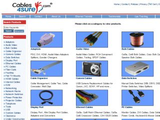 Shop at cables4sure.com