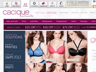 Shop at cacique.com