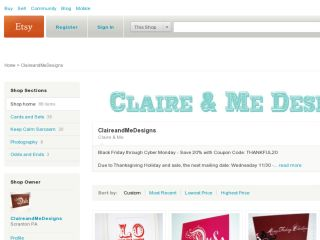 Shop at claireandmedesigns.etsy.com