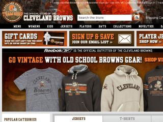 Shop at clevelandbrownsteamshop.com