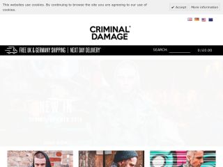 Shop at criminaldamage.co.uk