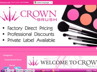 Shop at crownbrush.us