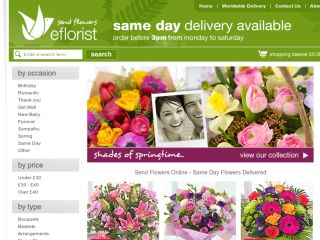 Shop at eflorist.co.uk
