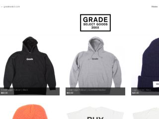 Shop at gradeselect.bigcartel.com