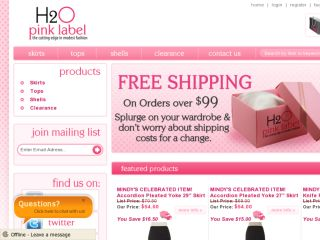 Shop at h2opinklabel.com