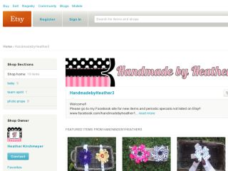 Shop at handmadebyheather3.etsy.com