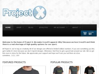 Shop at iamprojectx.com