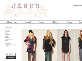 Shop at janescloset.com